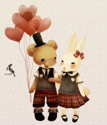Bear and Rabbit by glass-dolly