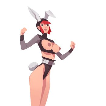 Comm02 - Bunny Girl by larolaro