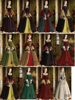 Tudor queens and ladies by indispoptart