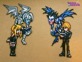 Death Note Bead Sprite Couple by SerenaAzureth