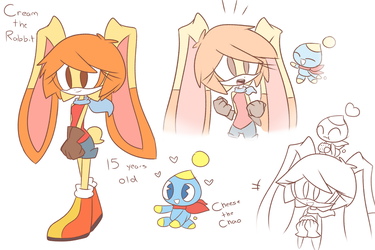 Cream the Rabbit and Cheese the Chao by shadcream4eva