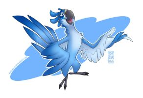 The Little Blue Macaw by Hakunaro