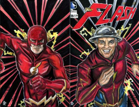 The Flash of Two Shows by JRtheMonsterboy