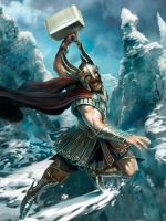 Thor the Norse God - stage 1 by m0zch0ps