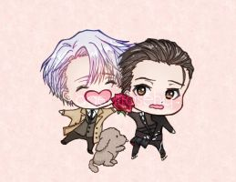 Victor Yuri Chibi Charm Design - Victuuri on Ice by AgentRose