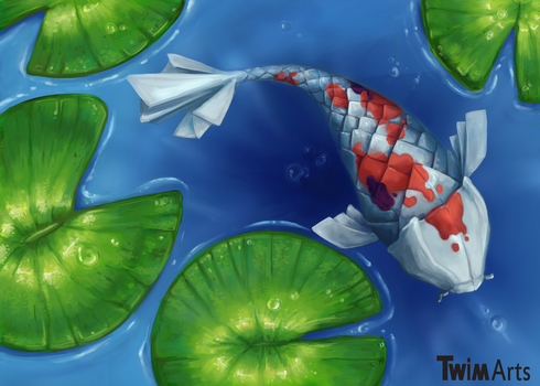 Origami Koi by Maybellez