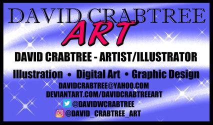 David Crabtree Art - Business Card Graphic Design by DavidCrabtreeArt
