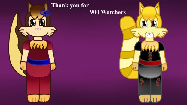 Thank you for 900 Watchers by Vickicutebunny