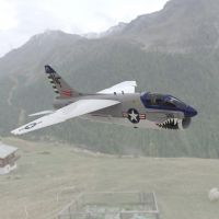 Corsair in the Mountains by VanishingPointInc