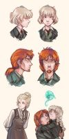 Tistow: Concept art - Beth, Jack and Grey by ElliPuukangas