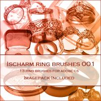 Ischarm Ring Brushes 001 by ischarm-stock