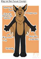 Willy the Bat Fursuit Concept by WindWo1f