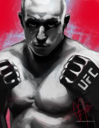 GEORGES ST-PIERRE by ananien