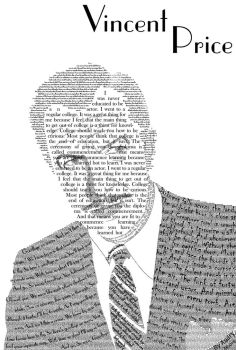 Vincent Price Typeface Portrait by The-Manga-Goddess