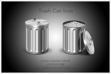 Trash Can Icon by SoundForge