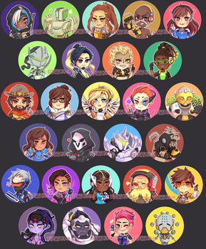 ::Buttons:: Overwatch by K0USEKI