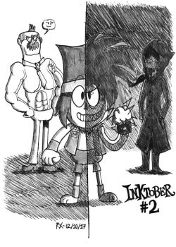 Inktober #2 : Divided - Between K.O. and T.K.O. by FTFTheAdvanceToonist