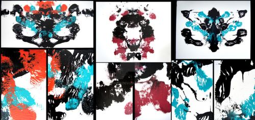 ORIGINAL RORSCHACH CANVAS PAINTINGS FOR SALE by Meiphon