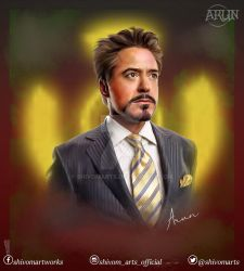 Robert Downey, Jr. by shivomarts