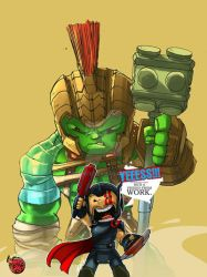 Thor Ragnarok: He's a friend from work!!! by bernce