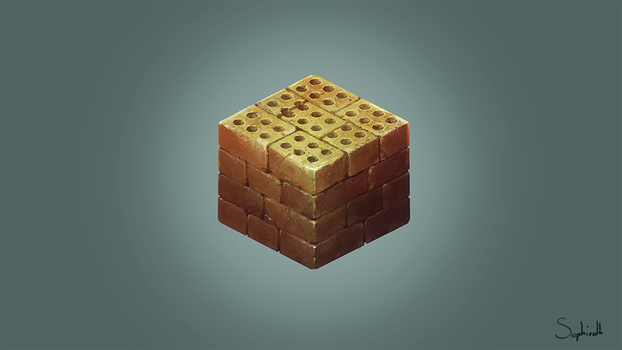 Isometric Brick Cube | FanArt #5 by Sephiroth-Art