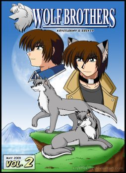 Wolf Brothers Vol.2 Manga Cover by krystlekmy