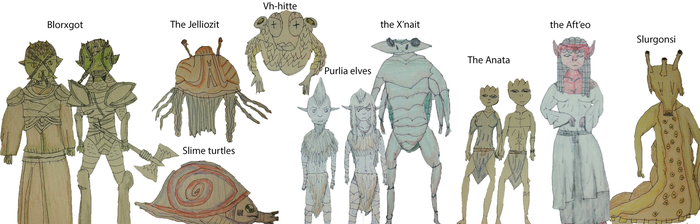 Different types of alien species by TheReptilianGeneral