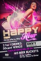Happy Hour Club Flyer by Numbaz