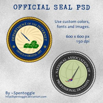 Official Seal PSD by spentoggle