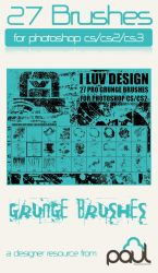 'I LUV DESIGN' Pro Grunge by PAULW