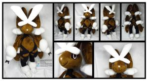 Mega Lopunny Custom Plush Commission by AkiaCreations