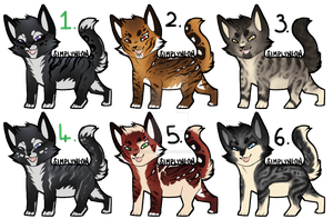 Cat Adopt batch 1 [1/6] [OPEN] by TheAdoptArtist