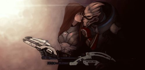 Shepard and Garrus by Aleigh-B