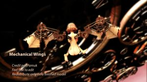 MMD Mechanical Steampunk Wings [DL] by pollPamuk