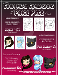 [OPEN] Commissions Price List - Chibi Heads 2019 by Lyrizel