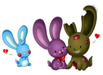 Chibi Springtrap, Bonnie and Toy Bonnie by Amanddica