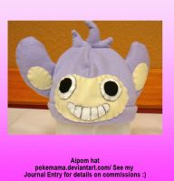 Aipom hat by PokeMama