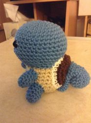 Squirtle Crochet (Side View) by Fluffer2004