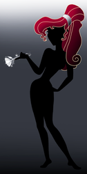 Disney Silhouette: Meg by Willemijn1991