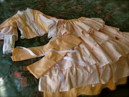 Mid 19th Century Peach Dress Cont... by ndilettante