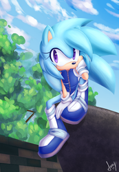 Aqua on a rock or something by Squeetheidiot