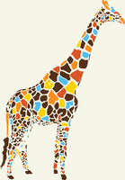colorful giraffe by rawr2200