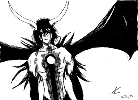 Ulquiorra cifer ink drawing by ShadowClawZ