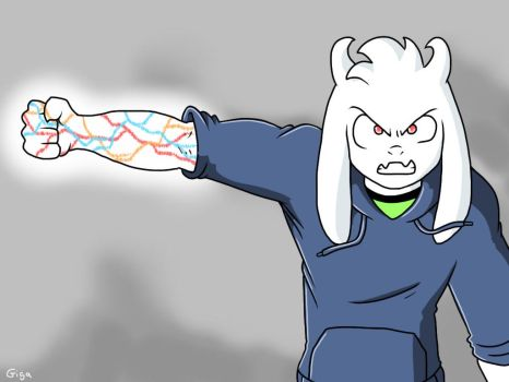 *Asriel is using a strange magic by Clemi1806