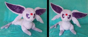 Life-sized Espeon Plushie :Commission: by AppleDew