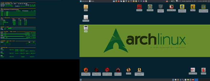 September 2017 Desktop - Arch Linux and Xfce by hamishpaulwilson