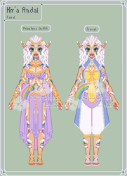 AnC - Hir'a Reference Sheet by theRainbowOverlord