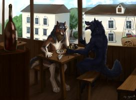 Veles and Kahito by OstinLein
