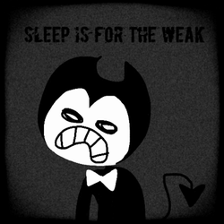 Bendy doesn't need sleep (Gif) by HirobArt