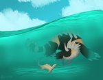Hiding in the Shallows by Zentok